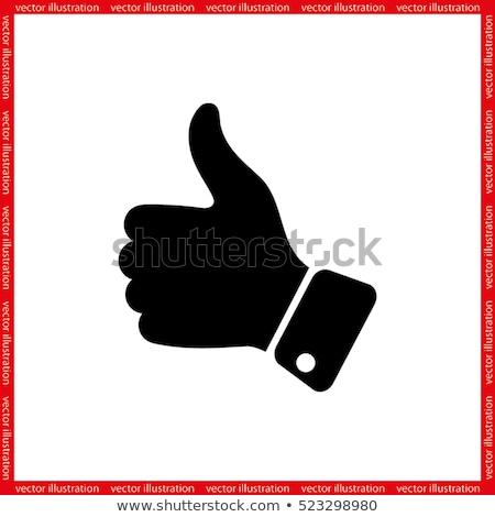 like thumb up vector eps10 stock photo © mpfphotography