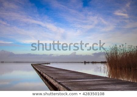 Zdjęcia stock: Długo · spokojny · wody · zielone · niebieski · biały