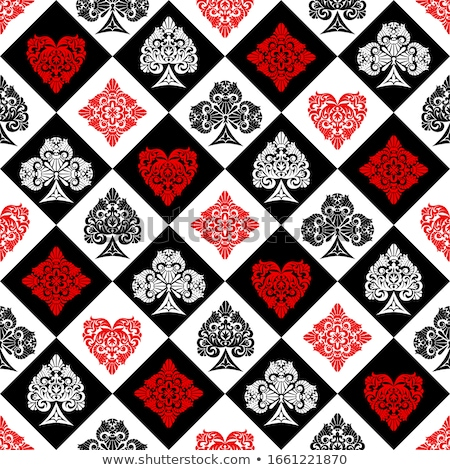 Seamless pattern of card suits Stock photo © elenapro