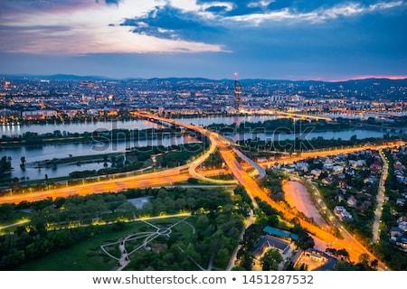 Wenen stad snelweg merk nieuwe hemel Stockfoto © pixachi