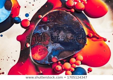 Macro shot of an abstract acrylic painting Stock photo © Zerbor