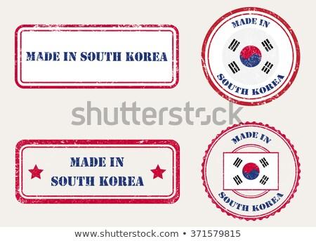 Güney Kore kırmızı yalıtılmış beyaz basın Stok fotoğraf © tashatuvango
