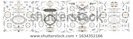 Fanfare Motiv Stelle Text Design Hintergrund Stock foto © morrmota