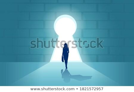 Stock fotó: Személy · világítótorony · jelzőtűz · üzlet · szimbólum · siker