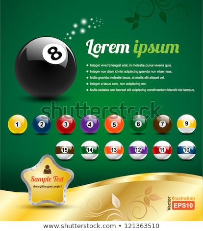 Sign billiard ball number 10 Stock photo © Ustofre9