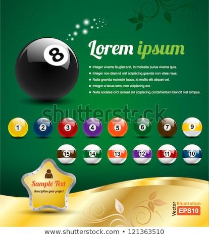 знак бильярдных мяча числа 10 природы Сток-фото © Ustofre9