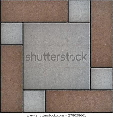 rectangular paving slabs laid as square seamless texture stock photo © tashatuvango