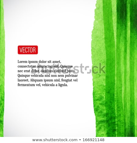 Green leaf motif with place for your text Stock photo © morrmota
