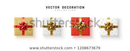 christmas · geschenkdoos · geïsoleerd · witte · ontwerp · sneeuw - stockfoto © baur