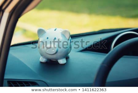 megtakarított · pénz · vásárol · autó · átlátszó · persely · érmék - stock fotó © simpson33