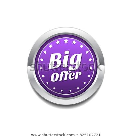 big offer purple circular vector button stock photo © rizwanali3d