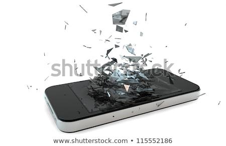 Quebrado celular dois Foto stock © JamiRae