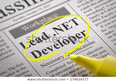 Net ontwikkelaar krant werk technologie Stockfoto © tashatuvango
