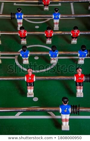 azul · balón · de · fútbol · jugadores · campo · hierba · verde - foto stock © stevanovicigor