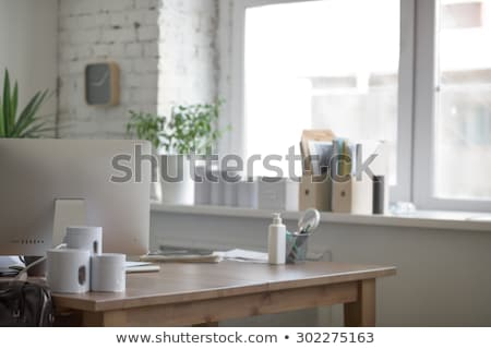 White cans on table in medical office Stock photo © HASLOO