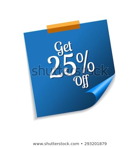 salvar · 25 · por · cento · azul · notas · vetor - foto stock © rizwanali3d