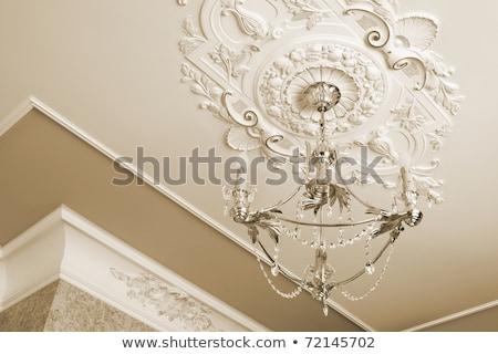 Klasszikus bronz csillár akasztás hotel terv Stock fotó © art9858