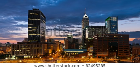 Indianapolis Indianna Downtown Urban City Skyline Midwest USA Stock photo © cboswell