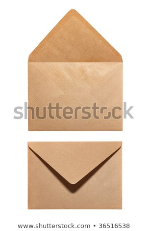 Two blank yellow envelopes (opened and closed) Stock photo © netkov1