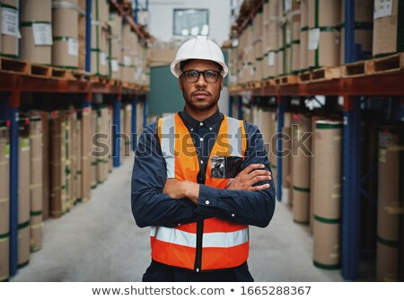 Ernstig manager magazijn portret mannelijke Stockfoto © wavebreak_media