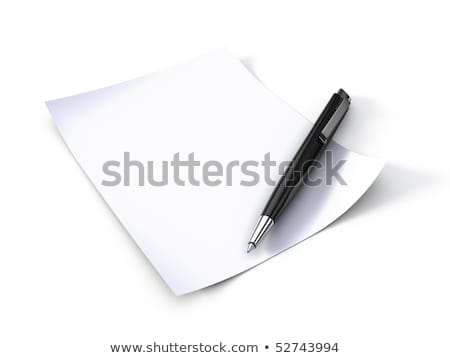 Blank note paper with pen. isolated on white. stock photo © teerawit