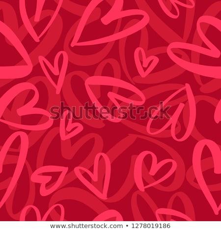 valentin · nap · terv · firka · kézzel · rajzolt · Valentin · nap · szívek - stock fotó © marish