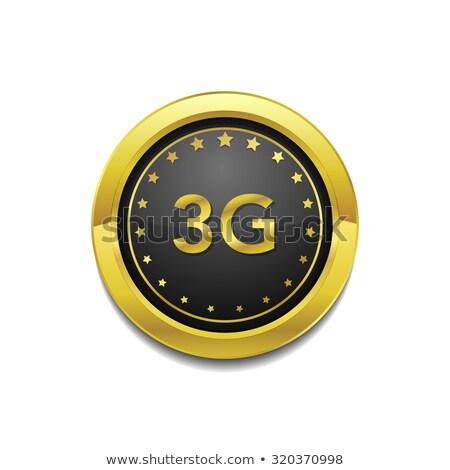 3g Sign Circular Gold Vector Button Icon Stock photo © rizwanali3d