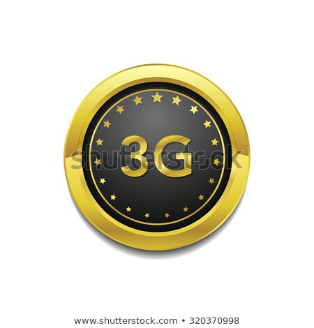 3g assinar ouro vetor botão Foto stock © rizwanali3d