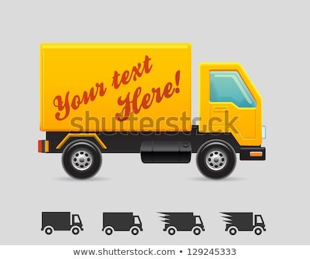 free shipping yellow vector icon button stock photo © rizwanali3d