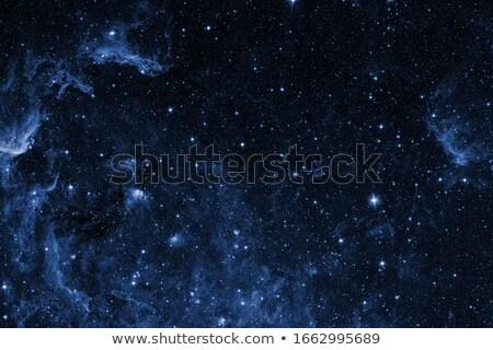 Fantastyczny widoku nieba gwiazdki księżyc chmury Zdjęcia stock © Taiga
