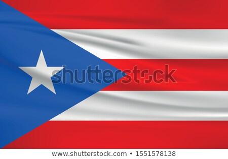 Franciaország Puerto Rico zászlók puzzle izolált fehér Stock fotó © Istanbul2009
