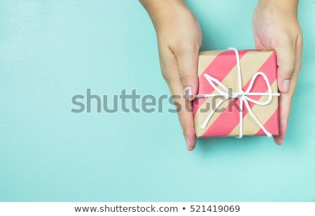 рождения · настоящее · украшение · подарок · свечу - Сток-фото © AndreyCherkasov