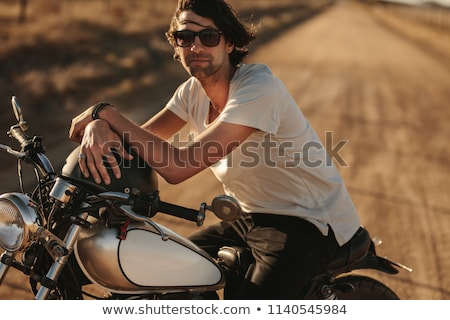 motorcyclist standing on country road Stock photo © Paha_L