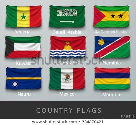 Arábia Saudita Namíbia bandeiras quebra-cabeça isolado branco Foto stock © Istanbul2009