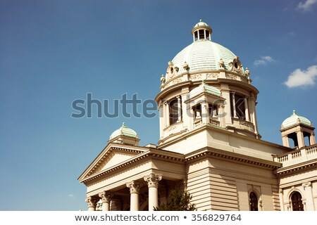 House of the National Assembly in Belgrade, Serbia. Color tone t Stock photo © Kirill_M