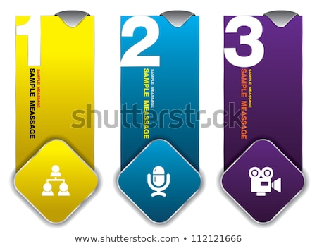 Flag Sign Violet Vector Icon Design Stock photo © rizwanali3d