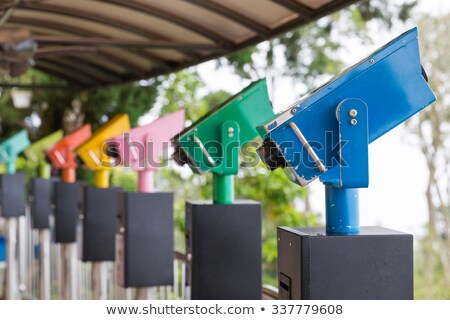 Colorful telescope viewer at Penang Hills Stock photo © tang90246