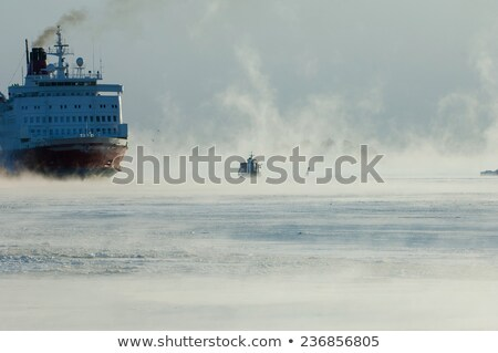 Stock photo: icebreaker at night