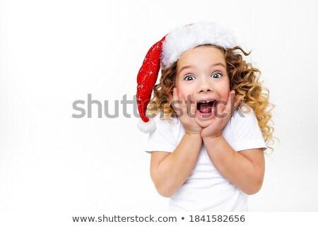 pretty santa girl portrait stock photo © petrmalyshev