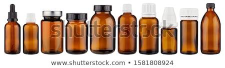 gyógyszeres · üveg · barna · üveg · izolált · fehér · 3d · render - stock fotó © netkov1