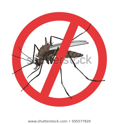 Prohibition sign for mosquitos to the zika virus Stock photo © Ustofre9