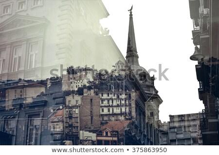 Belgrado · paisagem · cidade · Sérvia · ponte · reflexão - foto stock © kirill_m