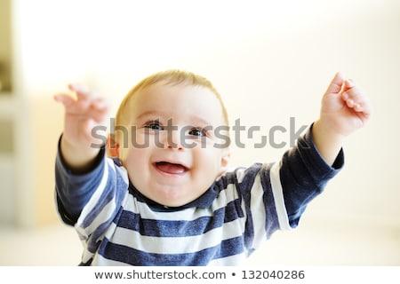 Porträt unschuldig kid cute Lächeln Gesicht Stock foto © zurijeta