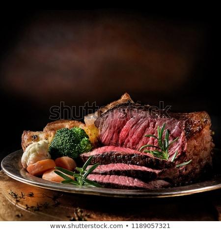 preparing to roast beef stock photo © zhekos
