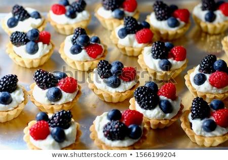 vanille · vla · chocolade · dessert · room · geserveerd - stockfoto © digifoodstock