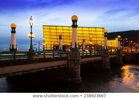 kursaal bridge in san sebastian at twilight spain stock photo © photooiasson