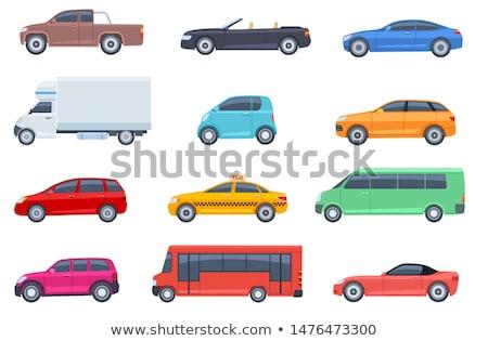 Colorful Flat Car Service Concept Set Stock photo © Genestro