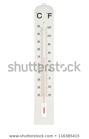 A red and white thermometer Stock photo © bluering