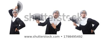 Man wearing nun costume isolated on white Stock photo © Elnur