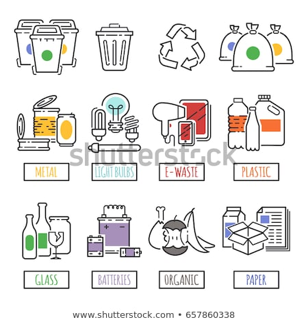 Trashcan for recycle waste Stock photo © bluering